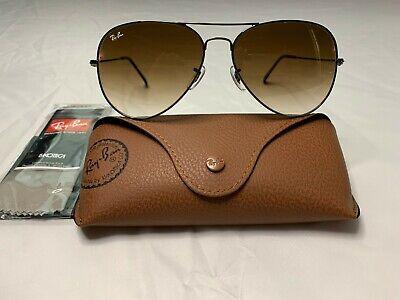 Ray-Ban Aviator Sunglasses RB3026 62mm 004/51 Gunmetal Frame Brown Gradient Lens