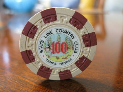 $100 State line Country Club Casino Chip  S. Lake Tahoe, NV.