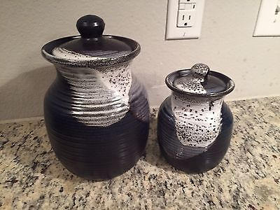 Used Canisters Set Of 2 Made In Colombia