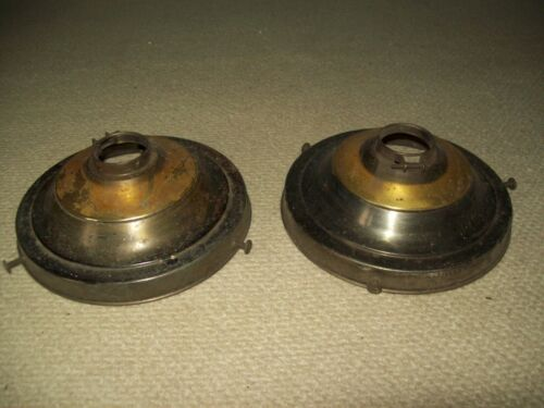 "pair of vintage brass shade holders  for  6"" shade"