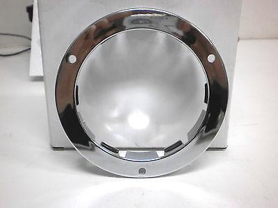 "4"" Round Chrome Flange Flush Mount For Standard 4"" Stop Tail Turn Lights"