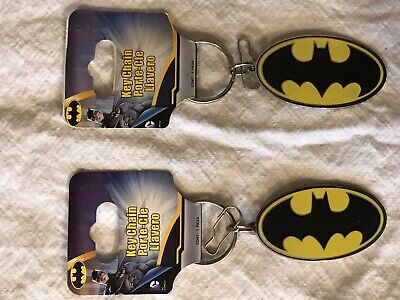 Batman Key Chain Key Ring DC Comics Raised Logo Heavy Key Ring Style Metal Set -