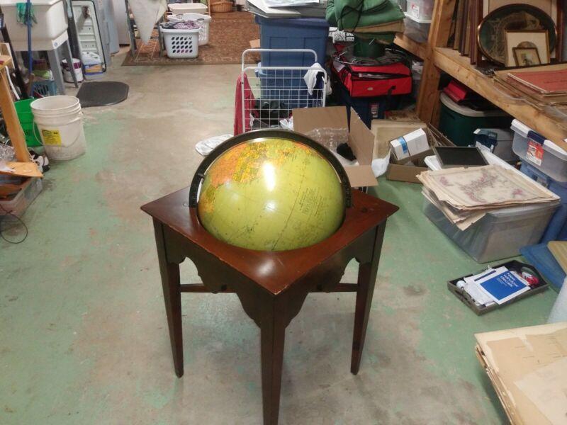 Original Replogle 16 inch globe, in table. 1948...1953.