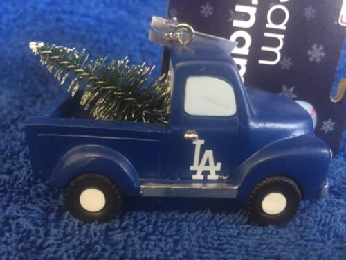 BLOWOUT SALE!!  Dodgers Pickup Truck with tree Christmas Ornament New