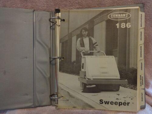 TENNANT 186 FLOOR CLEANER, OEM MAINTENANCE EQUIPMENT MANUAL