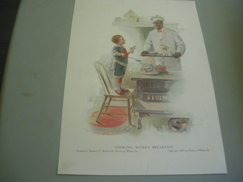 "cream of wheat ad 1917 ""cooking mama"