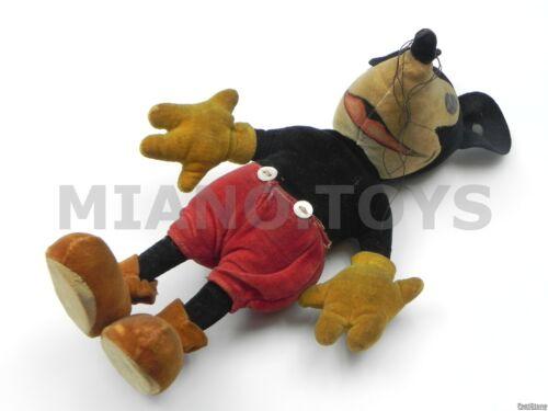 "Original antique 9"" 23cm Steiff Mickey Mouse cloth velvet doll Disney 1930s toy"