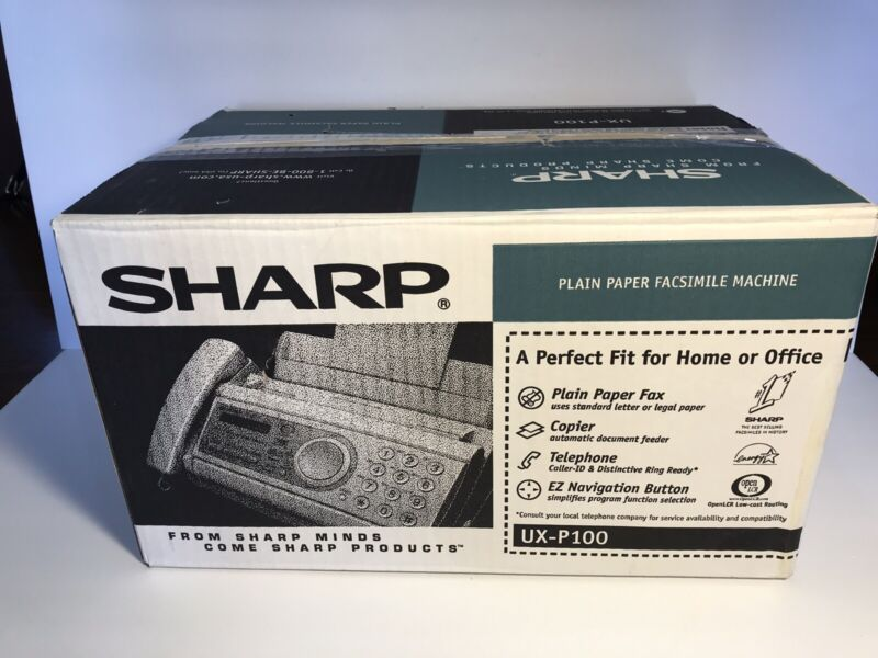 Sharp UX-P100 Plain Paper Fax - NEW