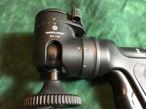 Vanguard GH-100 Tripod Head with Quick Release Adapter.