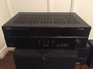 Yamaha receiver and Sony speakers