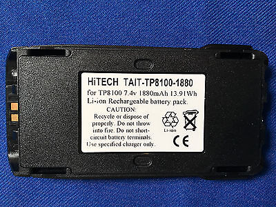 10 Batteries For Tait Tp8110tp8115tp8120...pn.tp8100 Slimjapan Liion7.4v2a
