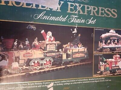 The Big Train New Bright 380 Holiday Express Animated Christmas Train Set
