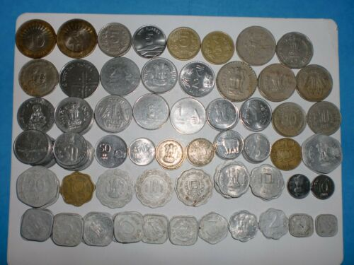 - INDIA COIN LOT - 101  OLD & NEW COINS - 1966-2017 - NO DUPLICATES # 100A5
