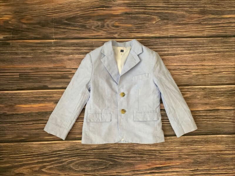 Baby Boy Janie And Jack Toddler Blue Long Sleeve Blazer Jacket Size 3 NICE