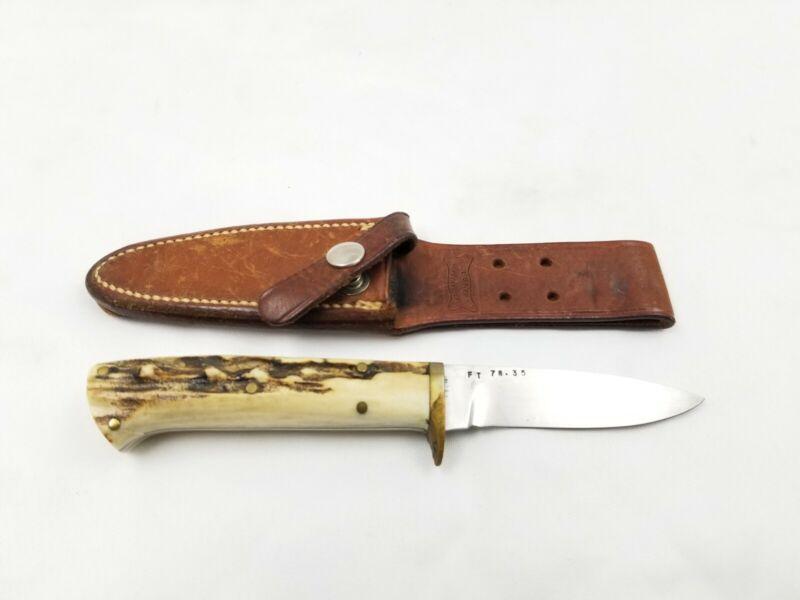 "Ralph Bone Lubbock TX Handmade Custom Knife Rare 7.75"""