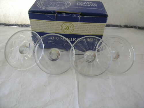 Set Of 4 Williams Sonoma Glass Cookie Stamps