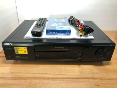 Sony SLV-775HF VHS VCR 4 Head Hi-Fi Video Cassette Recorder (with Remote) TESTED