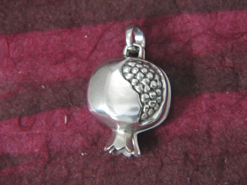 Small Pomegranate Locket Sterling Silver by Michael Bromberg