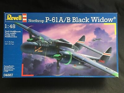 Used, Revell Germany NORTHROP BLACK WIDOW P-61A/B Model Kit 1/48 04887 BRAND NEW for sale  Marlton