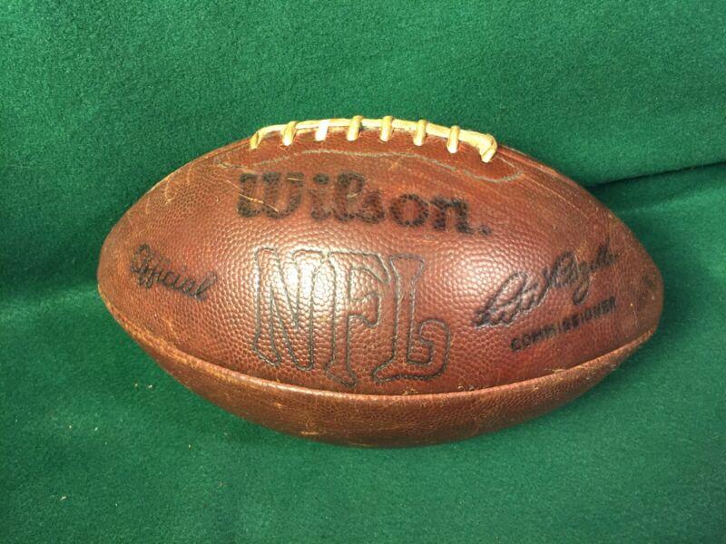 Vintage Wilson NFL Pete Rozelle Commissioner Leather Football