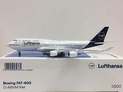 "Herpa Wings Lufthansa Boeing 747-400 ""New 2018 Colors"" Kiel 1:500 D-ABVM 532761"