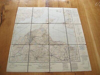 alte Landkarte Messtischblatt Nr.130 Glücksburg von 1926 auf Leinen Bockholm