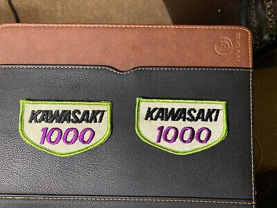 NOS Vintage Kawasaki 1000 Jacket / Hat Patch 1 Pair.