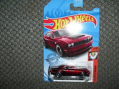 "Hot Wheels Super Treasure Hunt 2018 Dodge Challenger SRT Demon ""MINT"""