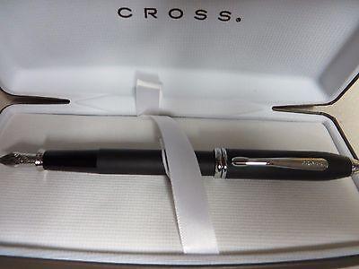 Cross Townsend Black Smooth Touch Fountain Pen FACTORY SECOND  M-NIB Pen $195