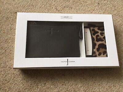 Jasper Conran Black Leather Purse & Cardholder Gift Set