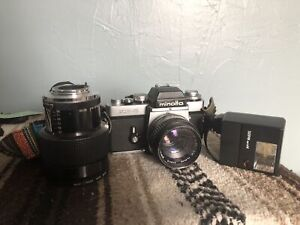 Minolta 35mm film camera and accessories