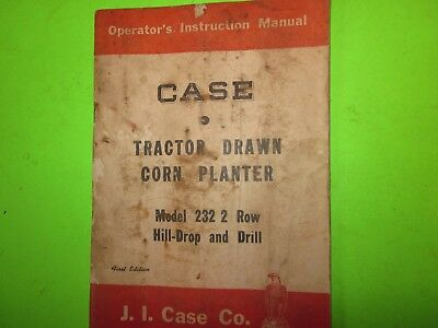 1950s Vintage 1st Edition Case Tractor Drawn Corn Planter Model 232 2 Row Drill