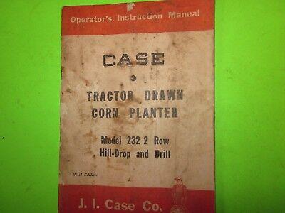 1950s Vintage 1st Edition Case Tractor Drawn Corn Planter Model 232 2 Row Drill