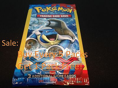 1 Random Artwork Pokemon Xy Dollar Tree 3 Card Booster Pack   Factory Sealed