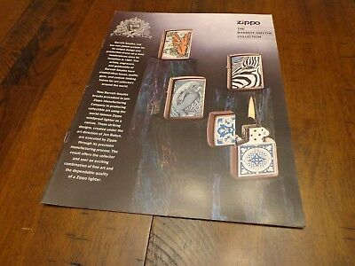 BARRETT-SMYTHE ZIPPO LIGHTER CATALOG UNUSED