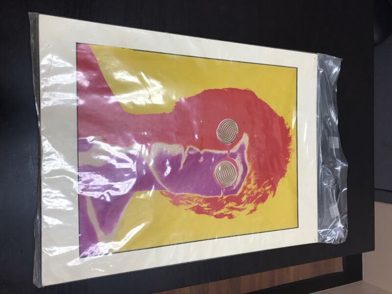 """Beatles Psychedelic Heavy Stock Posters Richard Avedon 4 Posters 15"""" x 12"""" Nice"""