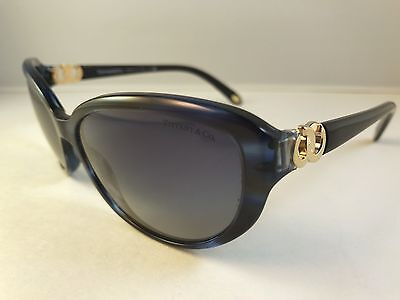 New Authentic TIFFANY & CO. TF 4045 sunglasses 8113 4L blue & black w case