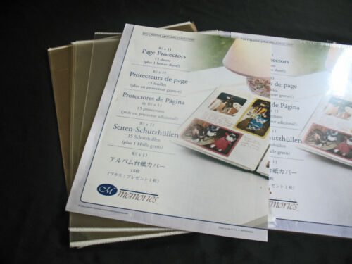 Creative Memories 8.5x11 Page Protectors Old Style 16 Count - plus 18 Loose.