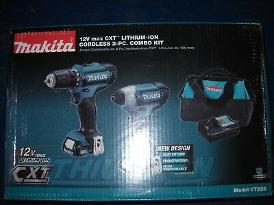 Makita CT226 12V Max Lithium-Ion Cordless Combo Kit Gimlet Impact Driver NEW