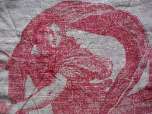 antique french Toile de Jouy pelmet 18 th c