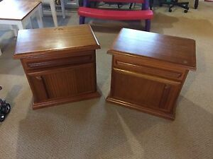 Bed side tables.