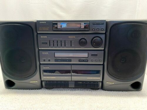 Aiwa Boombox Dual Cassette Recorder/CD Player CA-DW556 1995