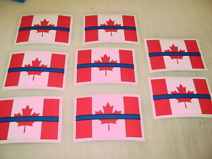 THIN BLUE LINE CANADA FLAG Sticker Decals  POLICE Boat Car - Decals for boats canada