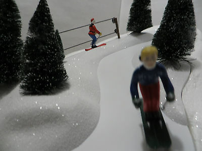 Department 56 Village ANIMATED SKI SLOPE Working with All Parts Christmas 52733