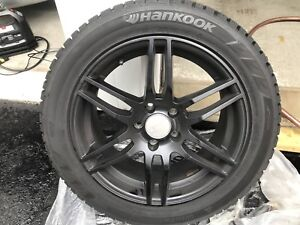 RS4 style rims with mint snow tires for VW and Audi 5x112