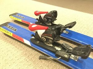 Kids Salomon 110cm skis and Head size 24.5 boots