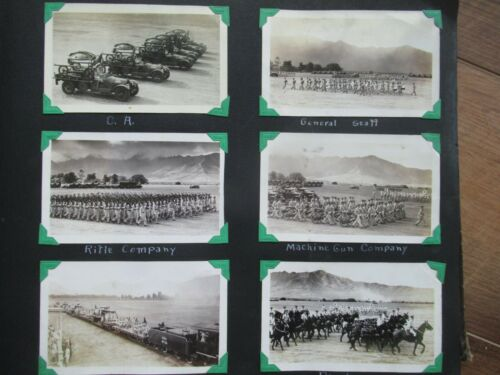 WW11 MILITARY PHOTO ALBUM PLANES-TANKS- MOVIE STARS FDR-SHIRLEY TEMPLE-MORE