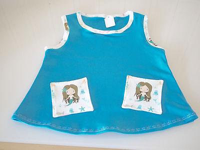 Baby Hängerchen, Kleid, Kleidchen, Tunika, MEERJUNGFRAU, Gr. 68/74, - Baby Meerjungfrau Kleid