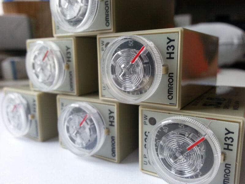 10pcs AC 220V ~ 240V Delay Timer Time Relay 1.0 ~ 30 Second H3Y-2 DPDT 8Pins