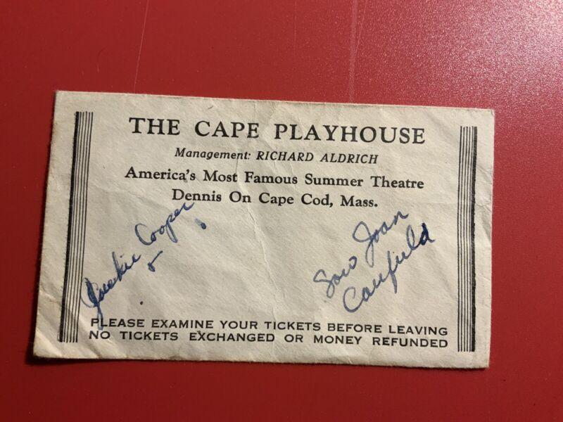 The Cape Playhouse Dennis Cape Cod Massachusetts MA Vintage Envelope Aldrich